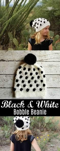 This Black & White Bobble Beanie is one of my favorite designs. I love the color contrast and the fun bobble stitches littered throughout the beanie. I made this one for my 7 year old daughter, but because there is so much slouch in the design it will fit a wide range of sizes. If …