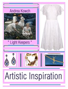 """Artistic Inspiration - Andrea Kowch And Bohemian Perfection"" by latoyacl ❤ liked on Polyvore featuring Yves Saint Laurent, Steve Madden and ALDO"