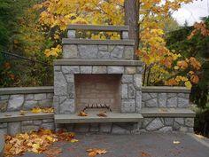 fake stone outside fireplace