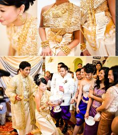 Step Try on Cambodian Wedding Dresses Laos Wedding, Thailand Wedding, Khmer Wedding, Wedding Ceremony, Bride Costume, Wedding Costumes, Wedding Outfits, Wedding Dresses, Engagement Outfits