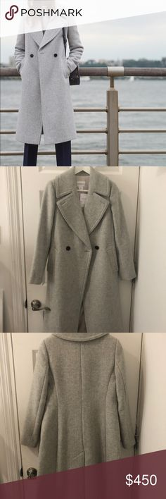 Club Monaco Daylina Coat (GRAY) New w Tags (XS) Brand new (still has tags on!) Daylina Coat by Club Monaco. Beautifully lined and made. Size XS. With tax this cost $490.00. Club Monaco Jackets & Coats
