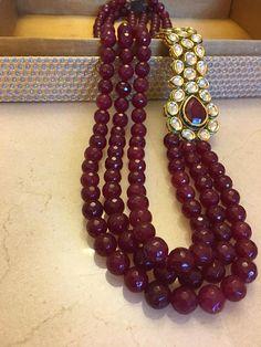Indian Ethnic Traditional Kundan 3 Strand Necklace