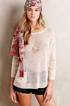 Ribbed Linen Pullover - anthropologie.com