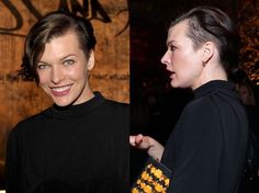 Milla Jovovich undercut #hair