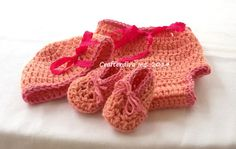 Hand Crocheted Baby Girl 3 Piece Outfit 03 by Crafterdivaqueen