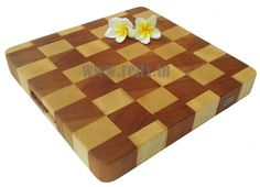Relix end grain cherry and sycamore cutting board $65