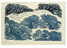 Matsubara Naoko: Page from Hagoromo (Feathered Robe), Shôwa period, circa - Harvard Art Museum Japanese Art Modern, Modern Art, Harvard Art Museum, Multimedia Arts, Naoko, Linoprint, Woodblock Print, Printmaking, Screen Printing