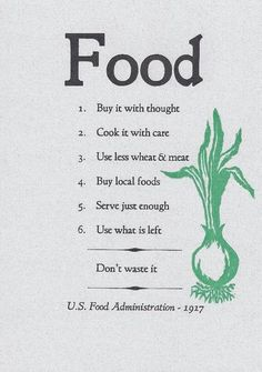 Advice from the US Food Administration - 1917 - Imgur
