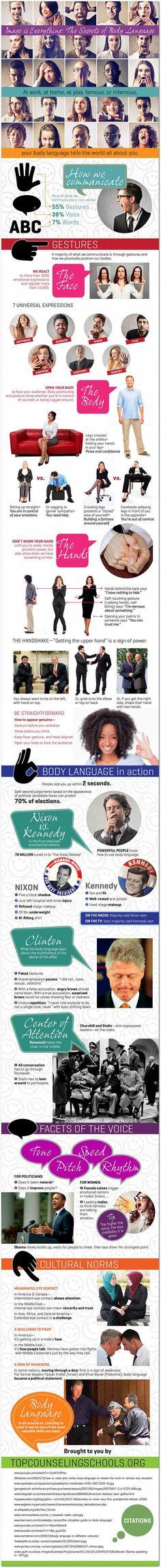 Secrets to reading #body #language #infographic