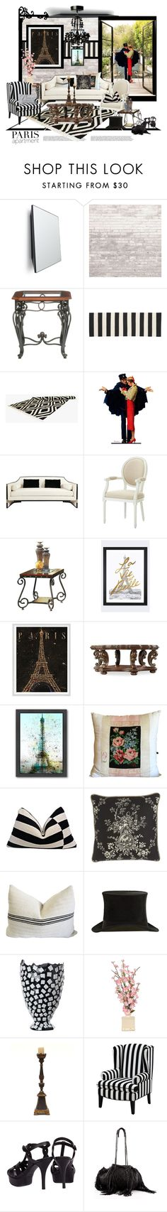 """Paris Garden"" by traceygraves on Polyvore featuring interior, interiors, interior design, home, home decor, interior decorating, Auerberg, WALL, Southern Enterprises and Crate and Barrel"