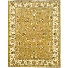 Adreana Area Rug ($69) ❤ liked on Polyvore featuring home, rugs, ivory wool rug, cream wool rug, ivory area rug, floral rug and ivory rugs