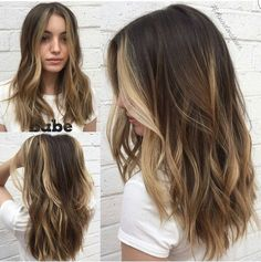 Contoured Layers Behindthechair com Hair contouring, Balayage hair, Balayage brunette to blonde, Med Balayage Brunette To Blonde, Brown Hair Balayage, Brown Blonde Hair, Light Brown Hair, Brunette Hair, Partial Balayage Brunettes, Sunkissed Hair Brunette, Subtle Balayage, Medium Blonde