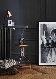 Ideas for modern art deco interior decoration floors Estilo Interior, Interior Styling, Interior Decorating, Dark Interiors, Colorful Interiors, Modern Art Deco, Black Walls, Black Rooms, Deco Design