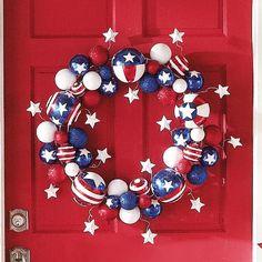 Stars and Stripes wreath - wreath or holiday decor