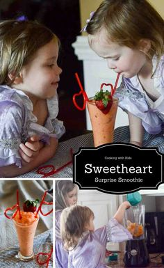 Sweetheart Surprise Smoothie - Cooking with Kids - The Gifted Gabber