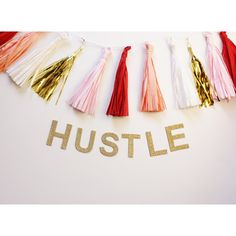 Hustle Glitter Banner Garland Gold or Silver Glittered Office Home... ($16) ❤ liked on Polyvore featuring home, home decor, home & living, home décor, silver, wall décor, text signs, gold sign, silver home decor and gold home decor Silver Home Accessories, Text Signs, Gold Office, Gold Home Decor, Nautical Wedding, House Rooms, Birthday Party Decorations, Hustle, Garland