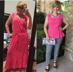 ABC Mom Style: Thrifty Thursday - Peplum Style Refashion Thrift upcycle upcycled fashion