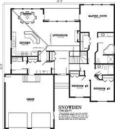 Deneschuk Homes 1700 + sq ft Home Plans RTM | Floor plans ...