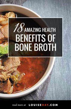 18 Amazing Health Benefits of Bone Broth Chicken Bone Broth Benefits, Health Benefits Of Chicken, Keto Benefits, Fertility Diet, Beef Bones, Healthy Recipes, Paleo Food, Healthy Foods, Diet Recipes