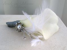 Calla lily corsage wedding corsages mother by BrideinBloomWeddings