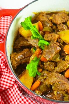 Irish Stew - Guinness beer and red wine added to create a wonderful tasting stew!