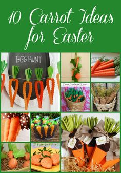 Fun ideas for carrot crafts for Easter from @Bonnie &  Trish { Uncommon Designs }