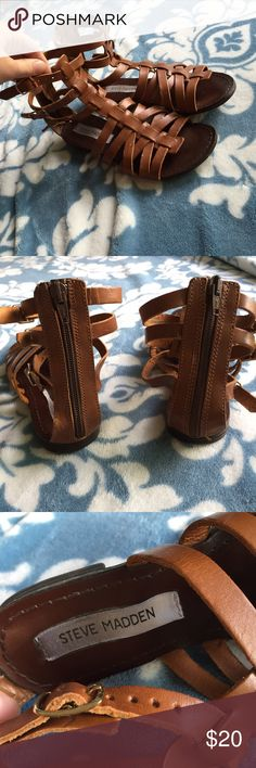 Steve Madden Gladiator Sandals Plato style size 6. Good condition. Worn a few times Steve Madden Shoes Sandals