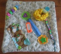 SOLD - Small Fidget Quilt for Alzheimer's Dementia Autism Stroke Sensory Tactile | eBay - made by TheFairyFeltMother