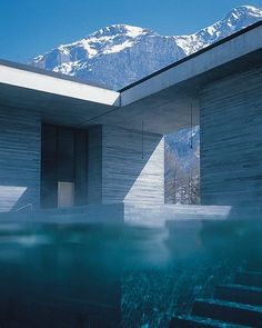 'therme vals' is a hotel and spa complex in switzerland. designed by peter zumthor, the project was completed in 1996 and celebrates its 20th anniversary this year. photo courtesy of @7132hotel⠀ ⠀ see more architecture by #peterzumthor on #designboom