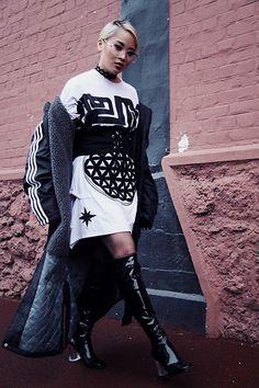 Get this look: http://lb.nu/look/8599323  More looks by Leentokyo Hyh: http://lb.nu/leentokyo  Items in this look:  Kokon To Zai Dress, Adidas Long Coat, Asos Boots   #sporty #street