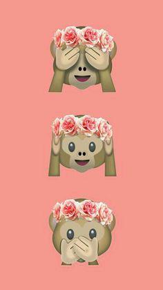 Mas um wallpaper de emojis e agora estes macaquinhos maravilindos hahaha...não são uma graça?