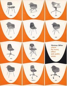 Drool. Classic Herman Miller ad for the Eames chair lineup.