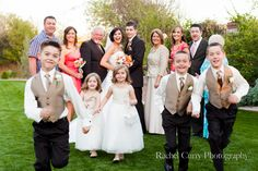 Flower Girls & Ring Bearers with the bridal party
