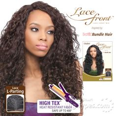 Outre Synthetic L Part Lace Front Wig Batik Peruvian Bundle Hair Futura