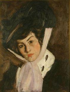 Hats in art Ștefan Luchian – Marioara Personal Project Ideas, Post Impressionism, Human Soul, Female Art, Romania, Hats For Women, Arts And Crafts, Canvas, 1 Februarie