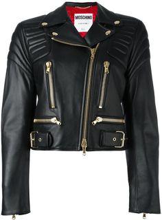 Moschino cropped biker jacket https://api.shopstyle.com/action/apiVisitRetailer?id=600210655&pid=uid2500-37484350-28