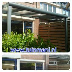 Veranda terrasoverkapping gemaakt van aluminium geeft sfeer in de tuin modern of klassiek - Modern prieel aluminium ...