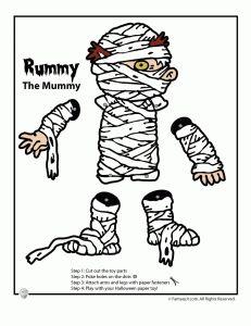 printable mummy craft