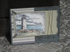 Fathers Day Lighthouse using Stampin' Up! Coast to Coast retired stamp set.