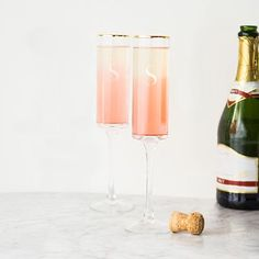 36e03263825 Gold Rim Contemporary Champagne Flutes