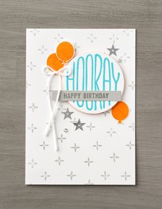 Use the Confetti Celebration stamp set and Layering Circles Framelits to make your own set of these wonderful birthday cards. They're perfect for anyone! #stampinup.