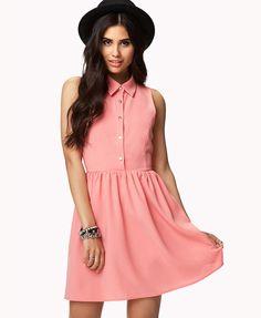 FOREVER 21 #Textured #Shirt #Dress $24.80