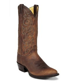 Take a look at this Bay Apache Cowboy Boot - Men by Justin Boots on #zulily today!
