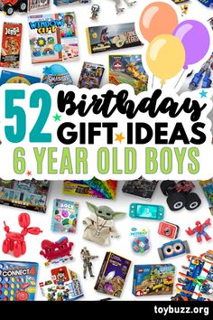 These 50+ Birthday Gifts for 6 Year Old Boys are gonna be amazing for our kids' birthday parties!! I can't believe you can see all of the coolest gifts for 6 year olds birthdays all in one place. 50 Birthday, 50th Birthday Gifts, Birthday Gifts For Women, Gifts For Boys, Birthday Parties, Dino Eggs, 6 Year Old Boy, Milestone Birthdays, Old Boys