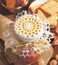 Jar cover or stiffen to make a small hat ornament!  :) Esquemas | CTejidas: Dulces con Sabor a Miel