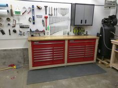 My auto shop build – Page 4 – The Garage Journal Board – Garage Organization DIY Pegboard Garage, Garage Storage Cabinets, Diy Garage Storage, Garage Tools, Garage Workshop, Garage Organization, Garage Ideas, Organized Garage, Workshop Ideas
