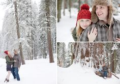 Snow + couple pictures = a must.