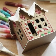 Design your own Gingerbread House Gift Box with this easy tutorial from Tried & True for Crafts Unleashed.
