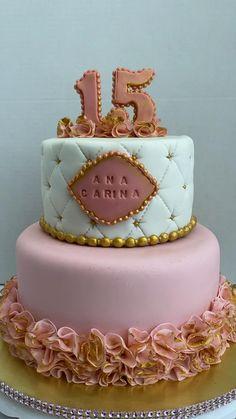 Birthday Cake Video, 19th Birthday Cakes, Sweet 16 Birthday Cake, Birthday Cake Girls, Sweet 15, Fondant Cakes, Cupcake Cakes, Birth Cakes, Fondant Crown
