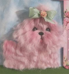 Pink Maltese handmade pampered pooch handmade for scrapbooking pages or mini album